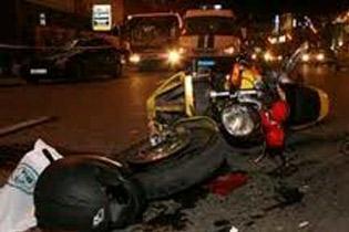 ДТП в Москве : мотоцикл Suzuki угнали двое парней и разбились на нем (ФОТО)
